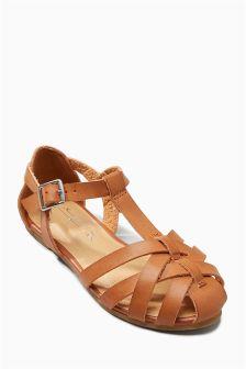 Woven T-Bar Sandals (Older)