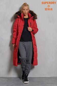 Superdry Longline Faux Fur Everest Coat