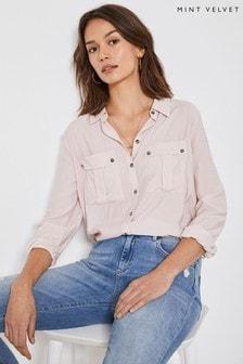 Mint Velvet Pink Utility Shirt