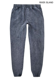 River Island Grey Regular Washed Joggers