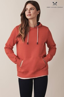 Crew Clothing Red Ash Hoody