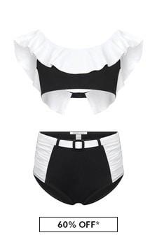 Nessi Byrd Girls Black And White Bikini