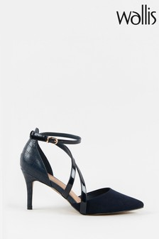 Wallis Carrie Navy Double Asymetric Strap Courts