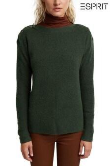 Esprit Green Women Long Sleeve Sweater