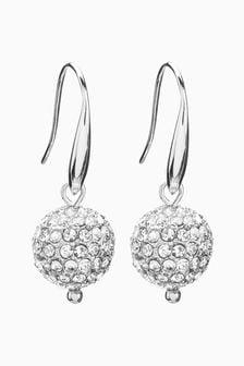 Pave Ball Drop Earrings
