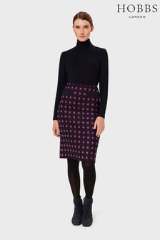 Hobbs Blue Valerie Wool Skirt