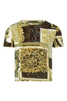 Versace Baby Boys Gold Cotton T-Shirt