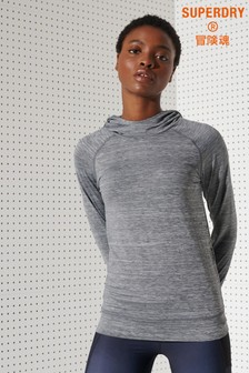 Superdry Running Hooded Mid Layer Top