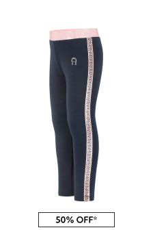 Aigner Girls Navy Cotton Leggings