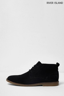 River Island Black Suede Chukka Boots