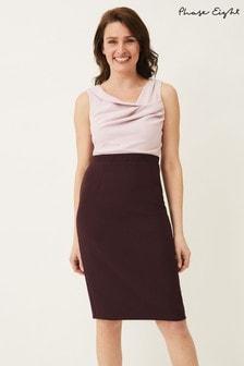 Phase Eight Pink Tandi Contrast Bodice Dress