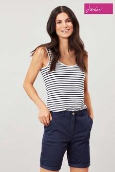Joules Cream Annika Stripe Jersey Vest
