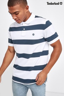 Timberland® Short Sleeve Stripe Pique Poloshirt