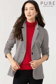 Pure Collection Grey Ponte Longline Blazer