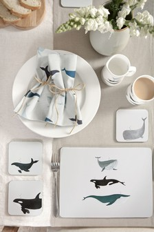 Sophie Allport Whales Placemats Set of 4