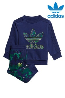 adidas Originals Infant All Over Print Crew and Joggers Tracksuit