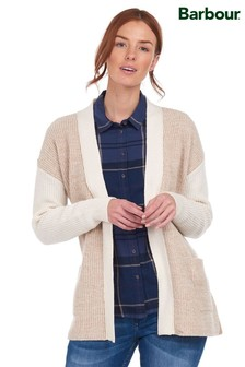 Barbour® Coastal Cream Panel Belted Dipton Cardigan