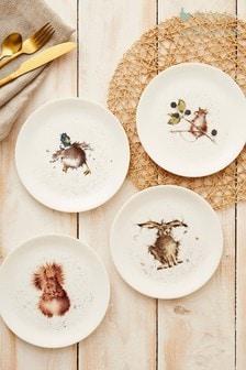 Set of 4 Royal Worcester Wrendale Animal Side Plates