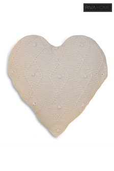 Argyll Knit Heart Shaped Cushion by Riva Home