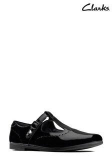 Clarks Black Patent Scala Seek Shoe