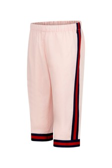 GUCCI Kids Baby Girls Pink Cotton Trousers