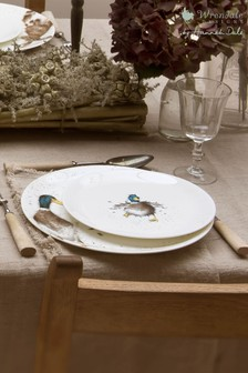 Set of 4 Royal Worcester Wrendale Duck Side Plates