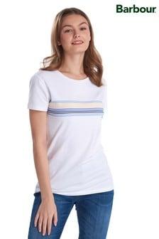חולצת טי עם לוגו ופסים דגם Harbourside שלBarbour® Coastal