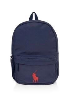Ralph Lauren Kids Navy Big Pony Backpack