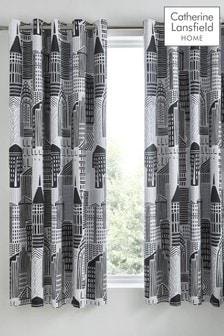 Catherine Lansfield Citylife Eyelet Curtains