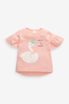 'Beauty Is All Around' Swan T-Shirt (3mths-7yrs)