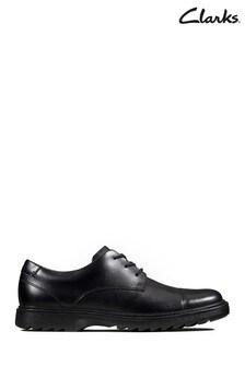 Clarks Black Asher Soar Y Shoes