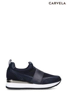 Carvela Navy Jenson Trainers
