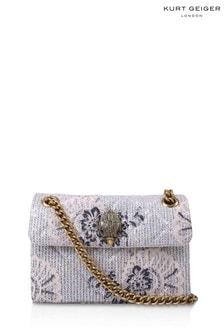Kurt Geiger London Silver Combination Sequins Mini Kens Bag