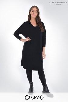 Live Unlimited Curve Black Sweatshirt Dress