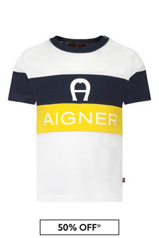 Aigner Yellow Cotton T-Shirt