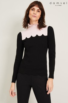Damsel In A Dress Black Averie Colourblock Knit Top