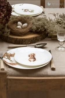 Set of 4 Royal Worcester Wrendale Squirrel Side Plates