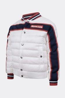 Moncler Enfant Boys White Down Padded Tubuai Jacket