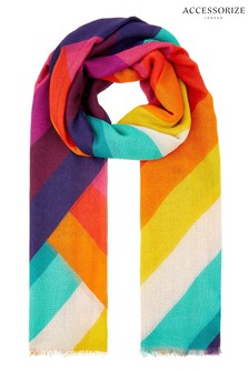 Accessorize Rainbow Chevron Scarf
