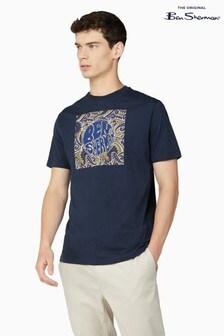 Ben Sherman Dark Navy Paisley Logo T-Shirt