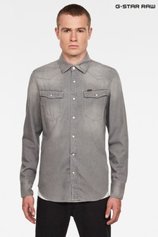 G Star Grey 3301 Slim Shirt
