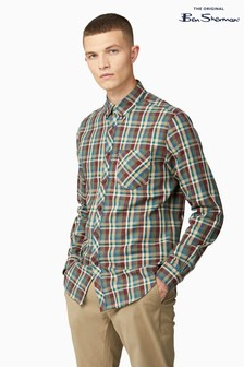 Ben Sherman Green Winter Madras Check Shirt