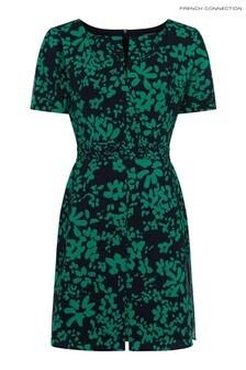 French Connection Black Florey Crepe Short Dress