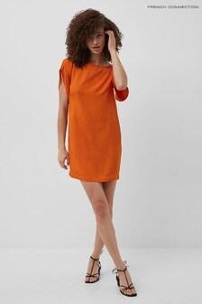 French Connection Orange Dua Drape Tunic Dress