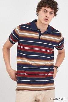 GANT Blue Multi Stripe Polo
