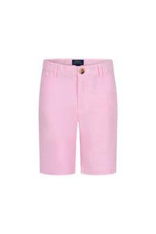 Ralph Lauren Kids Boys Pink Cotton Shorts