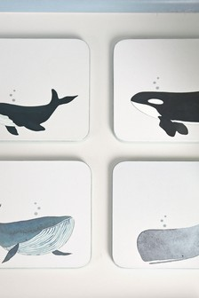 Sophie Allport Whales Coasters Set of 4