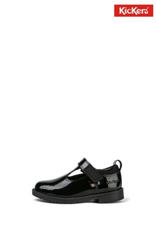 Kickers Infants Lachly T-Bar Patent Leather Shoes