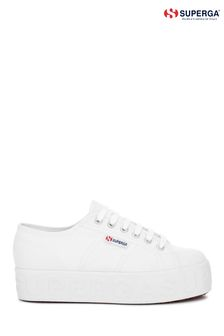 Superga® White 3D Lettering Trainers