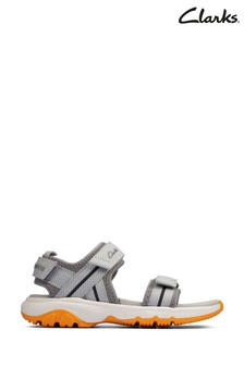 Clarks Grey Synthetic Expo Sea K Sandals